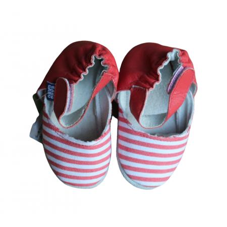 Sapato Retrô Listrado Vermelho Babo Uabu
