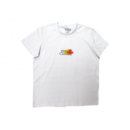 Camiseta Manga Curta Escola Brasil Canadá