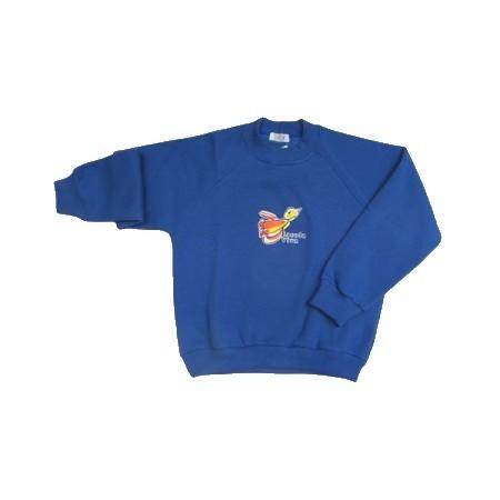 Blusão de Moleton com felpa Escola Viva Infantil Azul