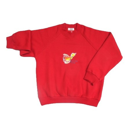Blusão de Moleton com felpa Escola Viva Infantil Vermelho