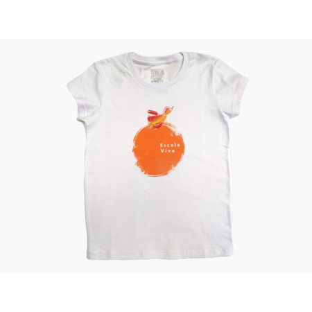 Camiseta Baby Look  Bola Laranja Escola Viva Fundamental - F2