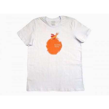 Camiseta Manga Curta Bola Laranja Escola Viva Fundamental - F2
