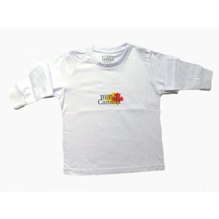 Camiseta Manga Longa Escola Brasil Canadá