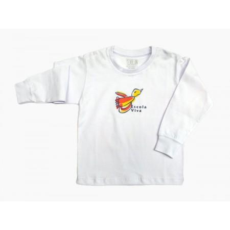 Camiseta Manga Longa Pássaro Escola Viva Fundamental - F1 - F2