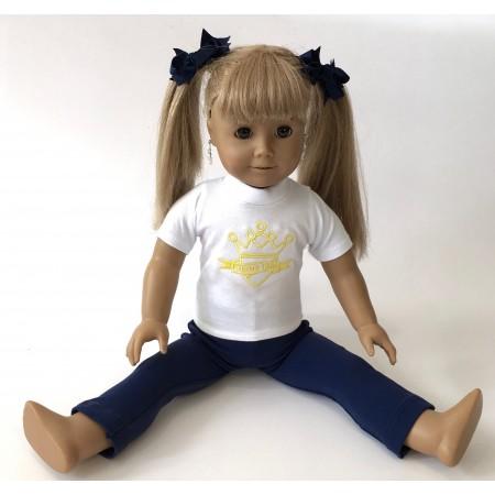 Kit roupa de boneca com 2 peças Escola Pequeno Reino