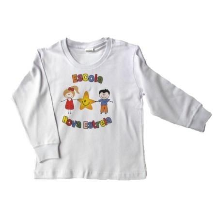 Camiseta Manga Longa Escola Nova Estrela