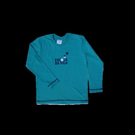Camiseta Manga Longa Azul Escola da Vila