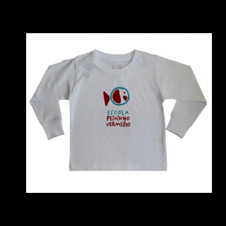Camiseta manga longa Peixinho Vermelho