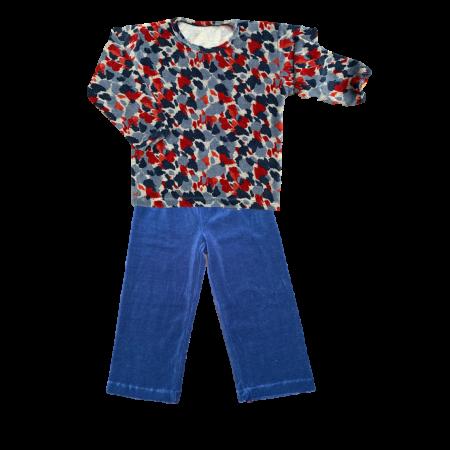 Pijama M Longa Plush Aquarela