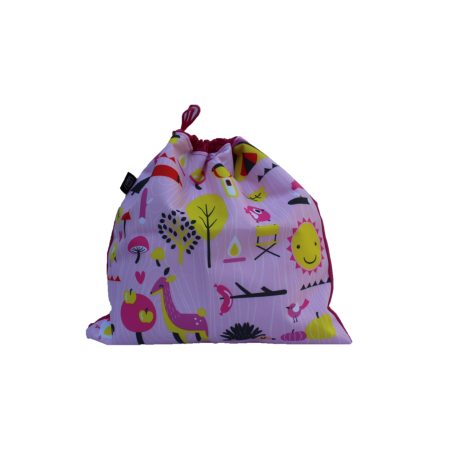 Saco Para Roupa Suja Camping Rosa