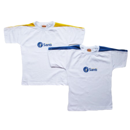 Camiseta Manga Curta Azul Santi