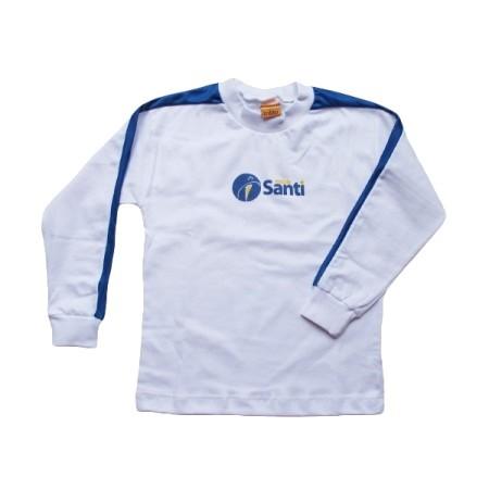 Camiseta Manga Longa Azul Santi