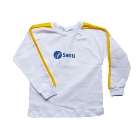 Camiseta Manga Longa Amarelo Santi