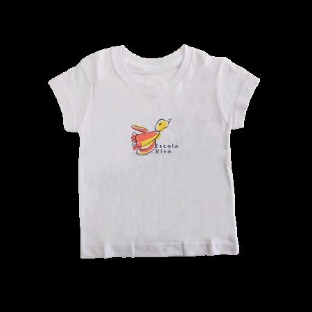 Camiseta Baby Look Malha Escola Viva
