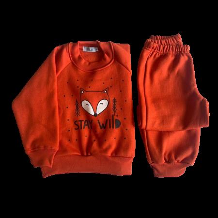 Pijamas de Moletom com Felpa Raposa