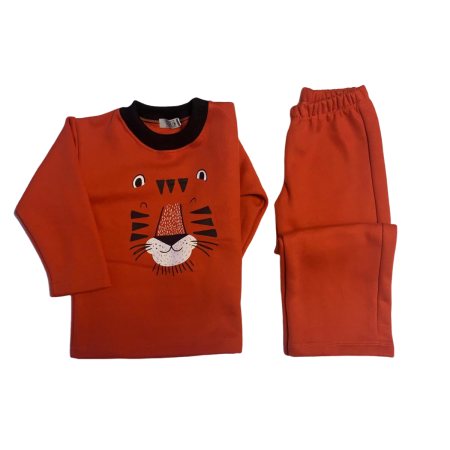 Pijamas de Moletom com Felpa Tigre