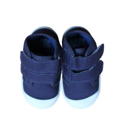 Tênis Cano Alto com Velcro Azul Marinho Babo Uabu