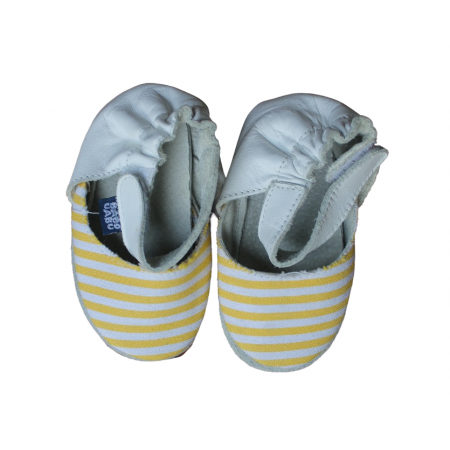 Sapato Retrô Listrado Amarelo Babo Uabu