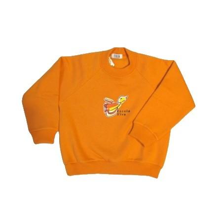 Blusão de Moleton com felpa Escola Viva Infantil Laranja