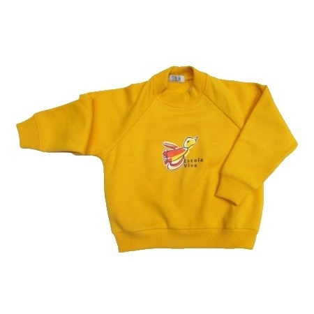 Blusão de Moleton com felpa Escola Viva Infantil Amarelo