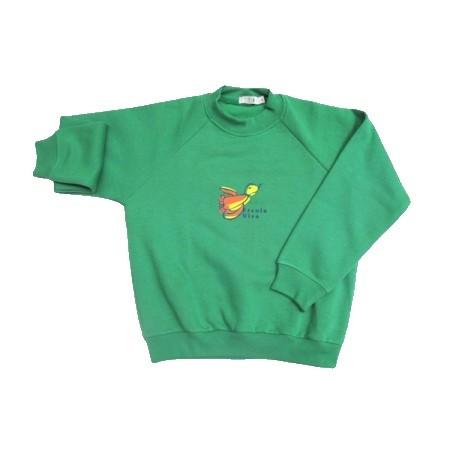 Blusão de Moleton com felpa Escola Viva Infantil Verde