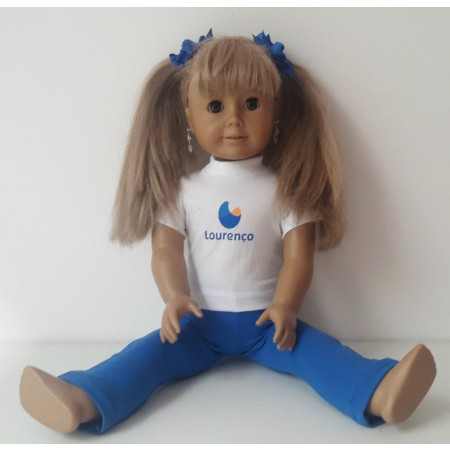 Roupa de boneca kit com 2 peças Lourenço Castanho