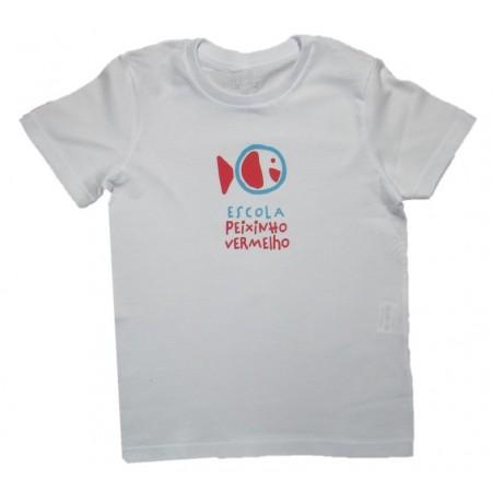Camiseta Manga Curta Escola Peixinho Vermelho