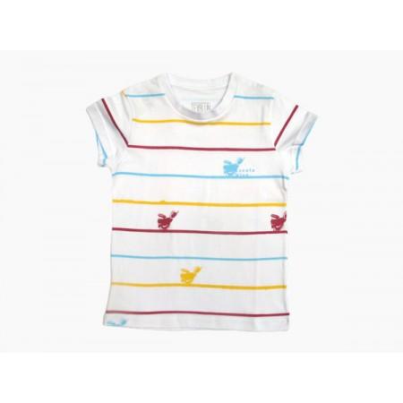 Camiseta Baby Look Listra Vermelha Escola Viva Fundamental - F1