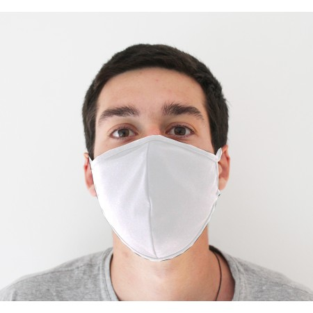 Kit 3 Máscaras de Proteção Antivirais Masculino G - Cor Branca