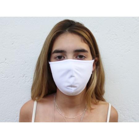 Kit 3 Máscaras de Proteção Antivirais Feminina M - Cor Branca