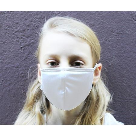 Kit 3 Máscaras de Proteção Antivirais Infantil P - Cor Branca