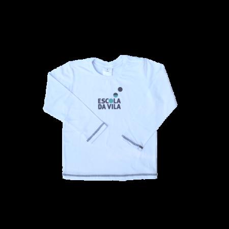 Camiseta Manga Longa Branca Escola da Vila