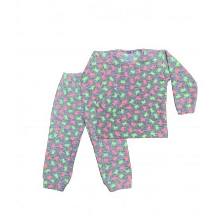 Pijama M Longa Microsoft Mescla Fluo
