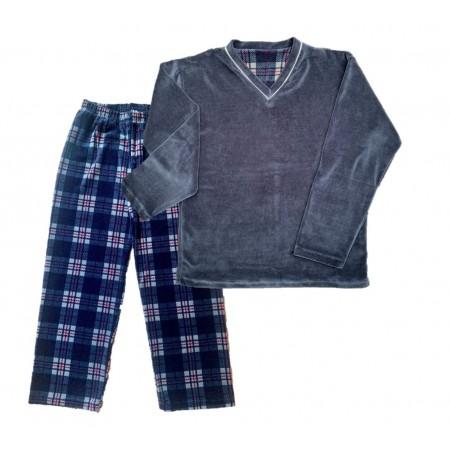 Pijama M Longa Plush Xadrez