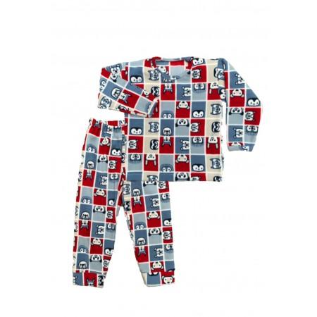Pijama M longa Microsoft Xadrez Bichinhos