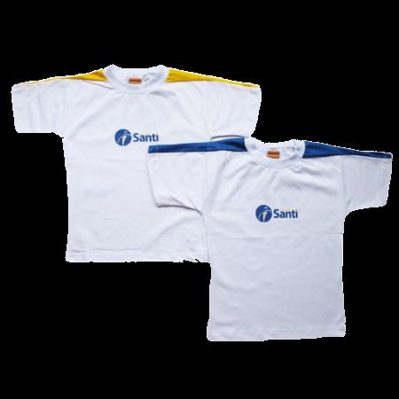 Camiseta Manga Curta Amarela Santi
