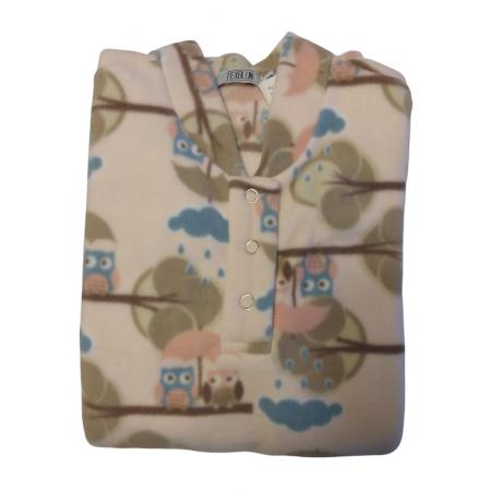 Pijama Microsoft Coruja Rosa