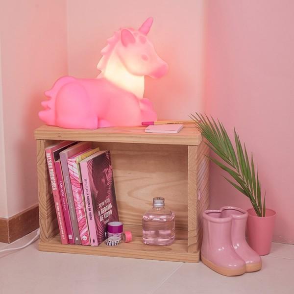 Luminaria Unicornio Rosa Usare