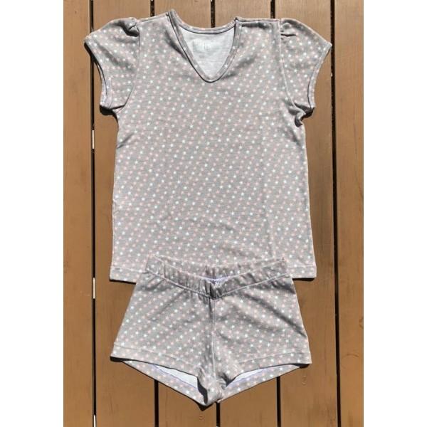 Pijama de Algodão Estrela
