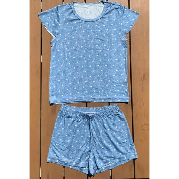 Pijama de Algodão Coração